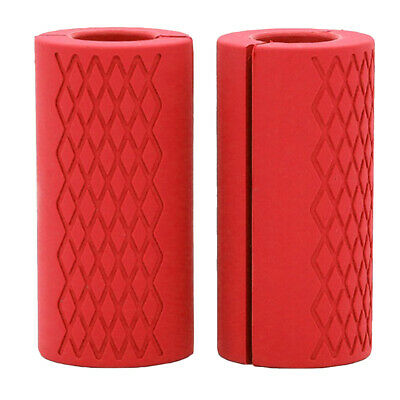 AU18.68 • Buy 2Pcs Thick Fat Barbell Grips Fitness Arm Wrap Bar Muscle Builder Dumbbell Grip