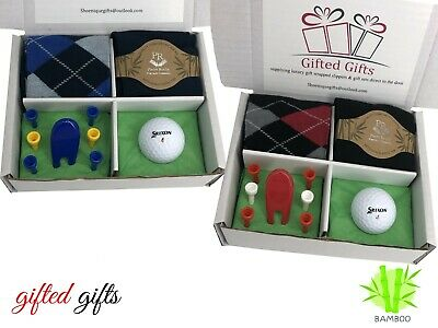 £8.50 • Buy Golf Gift Sets Socks Balls Tee's Ideal Presents, Birthdays Fathers Day Society's