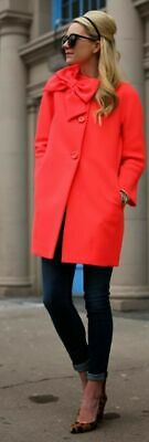 £141.49 • Buy Kate Spade Womens Dorothy Coat S Trench Jacket Bow 3/4 Sleeve Light Red/Pink