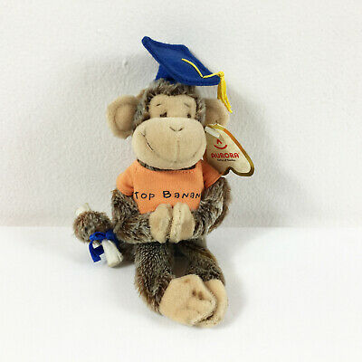$ CDN15.57 • Buy A76 Aurora Cheeky Charlie Monkey Graduation Clip On Plush 8  Stuffed Toy Lovey