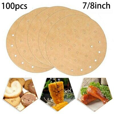 100Pcs 7/8 Inch Round  Paper Non-Stick Baking Sheets Liners Cake Pans Oil-proof • 6.91£