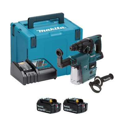 Makita DHR242RFJV-2 18v SDS+ Brushless Hammer Drill With Extractor (2x3Ah) • 360£
