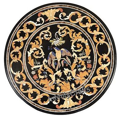 AU1682.13 • Buy Heritage Art Inlaid Marble Dining Table Top Round Shape Kitchen Table 36 Inches