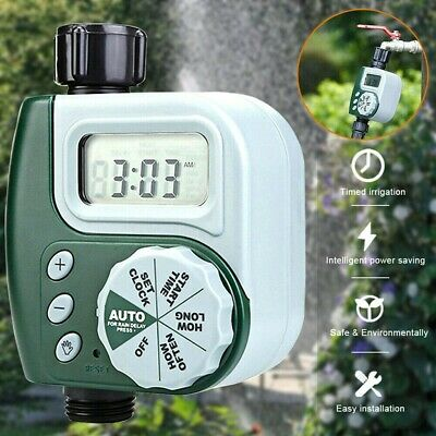 Automatic Water Tap Timer Garden Drip Digital Irrigation System LCD UK STOCK • 10.99£