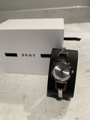DKNY Ladies Silver Coloured Stainless Steel Watch • 50£