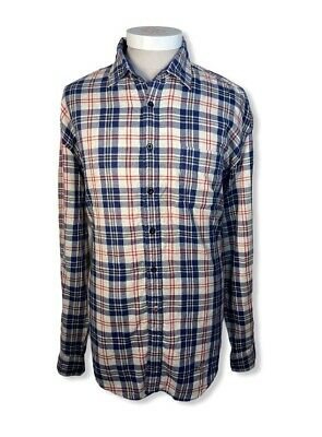 £17.99 • Buy GANT Mens Rugger Flannel Check Shirt Size 3XL Cotton Blue Red Collar
