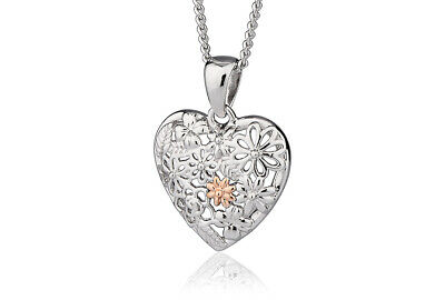 £49 • Buy BRAND NEW Official Welsh Clogau Silver & Rose Gold Floral Pendant £50 Off!