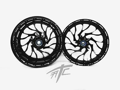 $3199.99 • Buy Gsxr 330 Fat Tire Black Engraved Hellian Wheels 01-08 Suzuki Gsxr 1000
