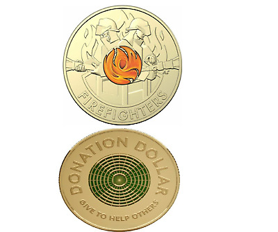 AU10.95 • Buy 2020 $2 Coin Fire Fighters & $1 Donation Coin UNC - Free Post