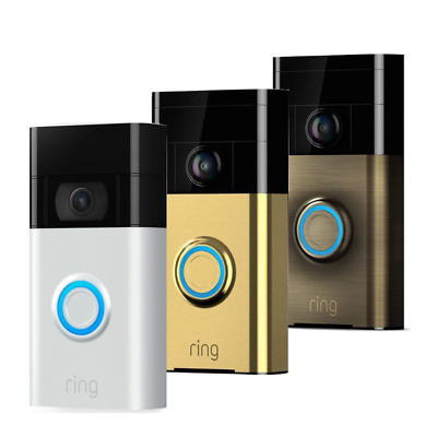 £54.95 • Buy Ring Video DoorBell 720P Camera WiFi Motion, Two Way Audio Monitor - Colours