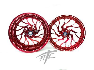 $3199.99 • Buy Gsxr 330 Fat Tire Candy Cherry Hellian Wheels 01-08 Suzuki Gsxr 1000