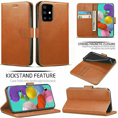 Genuine Leather Wallet Case For Samsung Galaxy A11,A10s,A20,A21s,A31,A41,A51,A71 • 3.49£