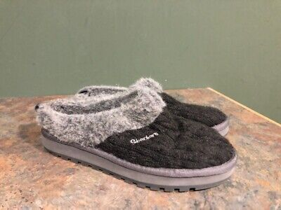 Skechers Women's 46346 Gray Cable Knit Slippers Size 8 • 12.87£