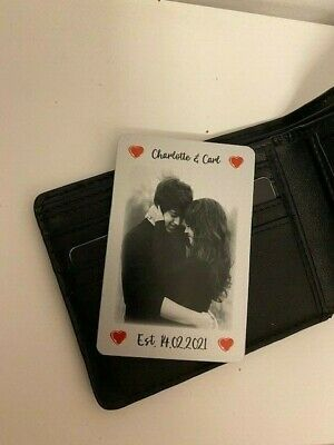 £3.99 • Buy Valentines Anniversary Wedding Gift Wallet Insert Gift For Him Her Personalised