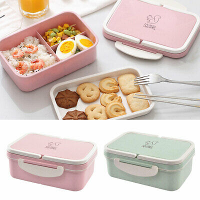 Lunch Box Food Container Bento Lunch Box With 3 Compartment 2 Layers School Work • 9.57£