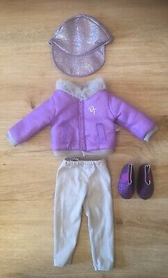 £7.99 • Buy Design A Friend Outfit Purple Jacket Hat Trousers Shoes Chad Valley