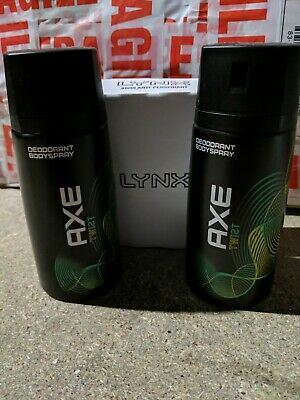 LYNX / AXE  TWIST Deodorant Cans X2 Rare And Discontinued In UK! Brand New. • 29.95£