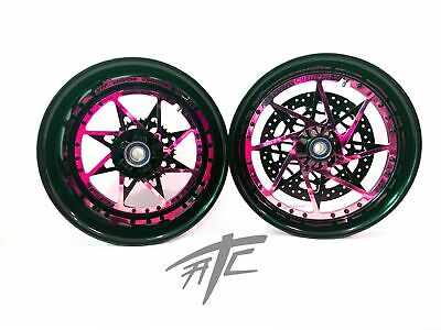 $3099.99 • Buy Gsxr 240 Fat Tire Black & Pink Switchback Wheels 01-08 Suzuki Gsxr 1000