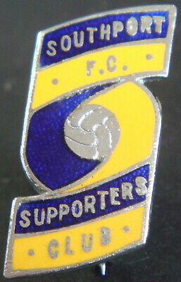 £13 • Buy SOUTHPORT FC Vintage SUPPORTERS CLUB Badge Brooch Pin In Chrome 18mm X 26mm