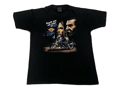 $ CDN364.79 • Buy Vintage 80s 3D Emblem American Biker T Shirt 1986 People You Can Count On M Rare