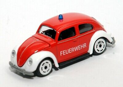 MAJORETTE Volkswagen VW Beetle Fire SOS Feuerwehr, New Unboxed From Gift Pack • 8.70£