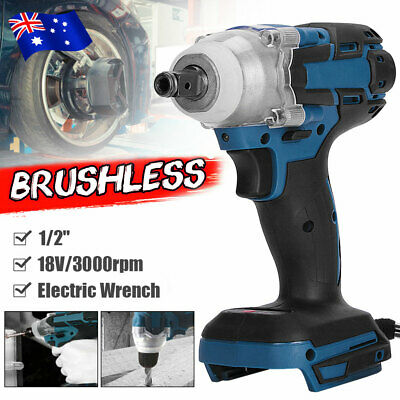 AU36.95 • Buy 18V Cordless Brushless Impact Wrench Driver Tool Replace Body For Makita Battery