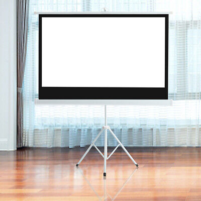£49.95 • Buy 50/72/84/100/120  Projector Screen With Tripod Stand HD Projection Screens 16:9