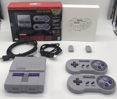 $ CDN287.43 • Buy Authentic Super Nintendo Snes Classic Mini With 2 Wireless Controllers