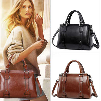 Ladies Work Handbag Stylish Shoulder Bag Leather Briefcase Laptop  • 25£
