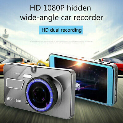 AU33.99 • Buy 1080P Car Dash Camera Front And Rear Dual Lens DVR Video Recorder Night Vision
