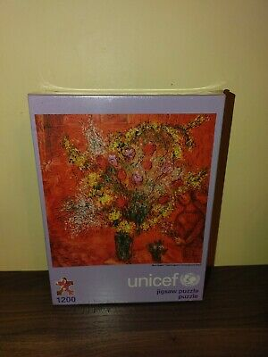 $ CDN94.56 • Buy Unicef Jigsaw Puzzle 1200 Piece Marc Changall Flowers Against A Red Background