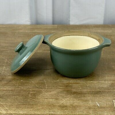 Vintage Denby Small Casserole Dish Or Soup Bowl With Lid & Handles Manor Green  • 12.71£