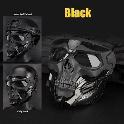 $21.67 • Buy Skull Tactical Airsoft Mask Paintball Military CS Full Face Mask Color Black