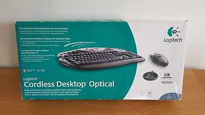 £24.95 • Buy Logitech Cordless Desktop Optical Keyboard And Mouse. Boxed