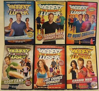 6 The Biggest Loser Workout DVD Lot, Weight Loss Yoga At Home Challenge Cardio  • 16.64£