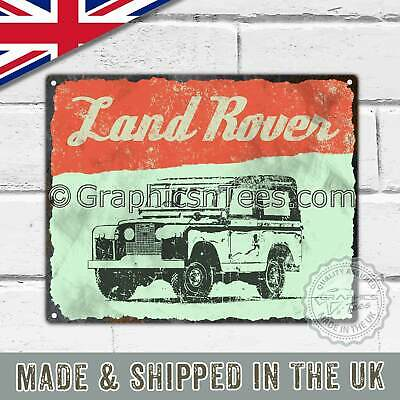 Metal Tin Sign Plaque Vintage Retro Style Featuring The Classic Land Rover Jeep • 11.99£