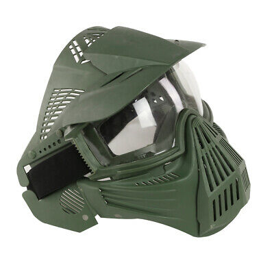 $18.74 • Buy Tactical Military Game Paintball Airsoft Green Full Face Protective Mask Goggles
