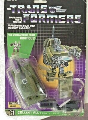 £48 • Buy Transformers G1 Bruticus Brawl &GUN Vintage 1980's Complete With Card  & Bubble
