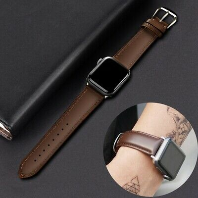 AU12.99 • Buy Unisex Leather Strap IWatch Band For Apple Watch Series 6 5 4 3 2 1 SE 40mm 44