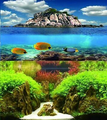 AU17.94 • Buy Aquarium Fish Tank Background Picture Poster Double Sided - 2 To 10 FT Lengths