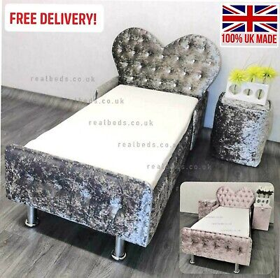 £229.99 • Buy Princess Heart Fairy Toddler Bed & Mattress In Crushed Velvet FREE Delivery
