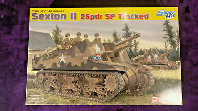 Dragon 6760 1:35 Sexton II 25Pdr SP Tracked Gun Model Kit *SEALED IN BAGS* • 56.99£