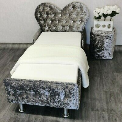 £229.99 • Buy Princess Heart Toddler Bed In Crushed Velvet FREE Mattress FREE Delivery
