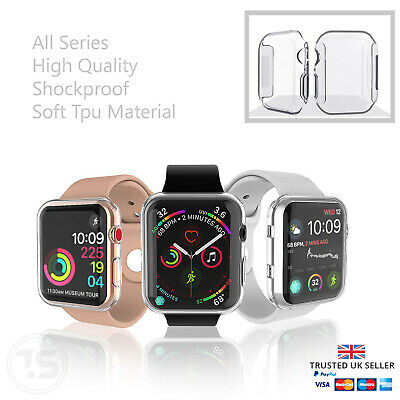 $ CDN6.02 • Buy Apple Watch Series 3/4/5/6/SE Full Case Iwatch TPU Screen Protector 38/42/40/44