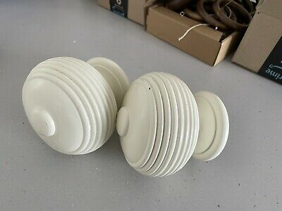 £25 • Buy Pair Of Large Reeded Finials For 63mm/2.5  Curtain Pole