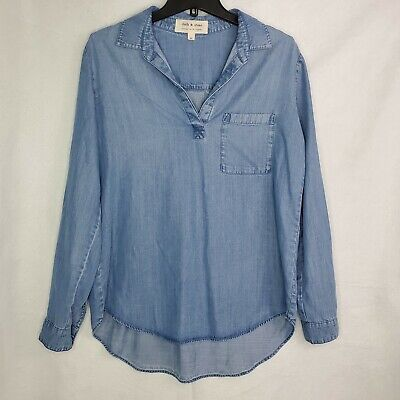 $ CDN33.73 • Buy Women's Anthropologie Cloth And Stone Chambray Tunic Top Size Medium