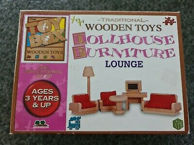 AU20 • Buy Wooden Doll House Furniture Lounge Room / Living Room Set - The Toy Box Brand