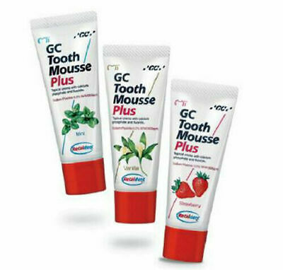 AU33.52 • Buy GC Tooth Mousse Plus With RECALDENT (CPP-ACP) All Flavours Tooth Cream