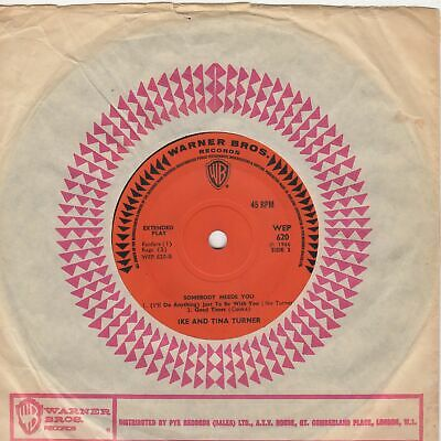 Ike And Tina Turner Somebody Needs You EP WB WEP620 Soul Northern Motown • 100£