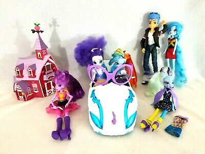Lot Of Hasbro My Little Pony MLP Equestria Girls 6 Dolls Car Clothes Accessories • 19.46£
